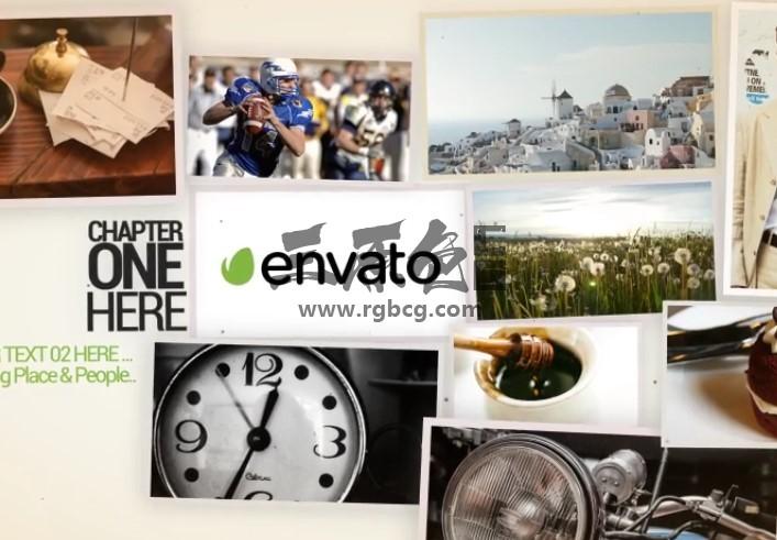AE模板 100张照片排序弹出窗口 100 Photo Popups Ae 模板-第1张