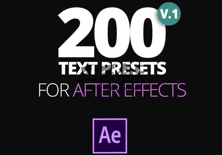 AE预设 200个FFX文本文字飞入飞出特效动画预设 Text Preset VIP 资源-第1张
