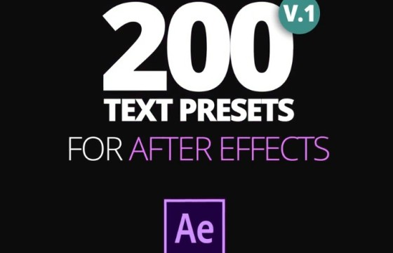 AE预设 200个FFX文本文字飞入飞出特效动画预设 Text Preset