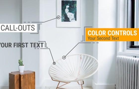 Pr模板-Mogrt基本图形模板 文字线条标注指示 Call-Outs