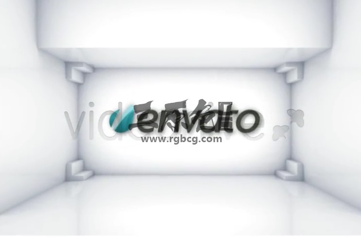 AE模板 白色三维立方体LOGO标志模板 Cubics logo Ae 模板-第1张
