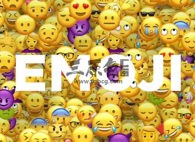AE模板+视频素材 各种表情的卡通大头娃娃动画表情 Emoji Ae 模板-第1张