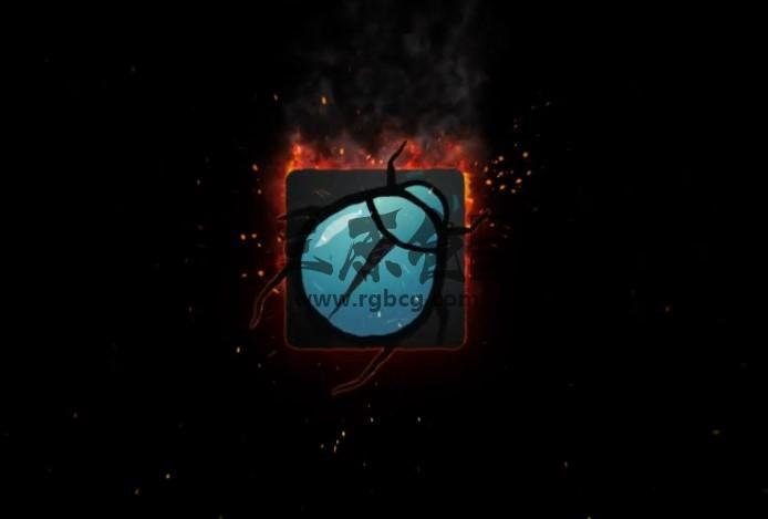 AE模板 真实粒子火焰燃烧特效片头 VideoHive Fire Logo Ae 模板-第1张
