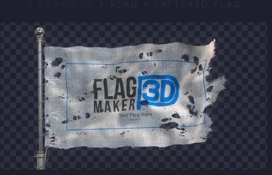 AE模板 旗帜动画制造 VideoHive Flag Maker