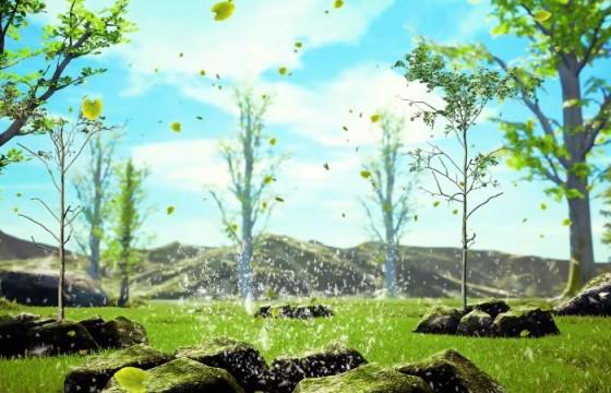 AE模板 树木河流自然生态环境LOGO片头 Growing Tree Nature Logo