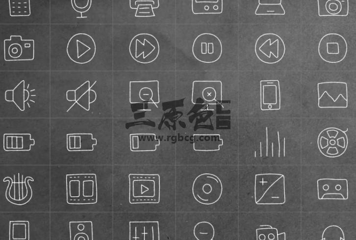 AE模板 手绘ICO线条图标文字动画 Hand Drawn Complete Pack Ae 模板-第1张