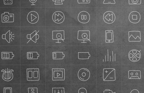 AE模板 手绘ICO线条图标文字动画 Hand Drawn Complete Pack
