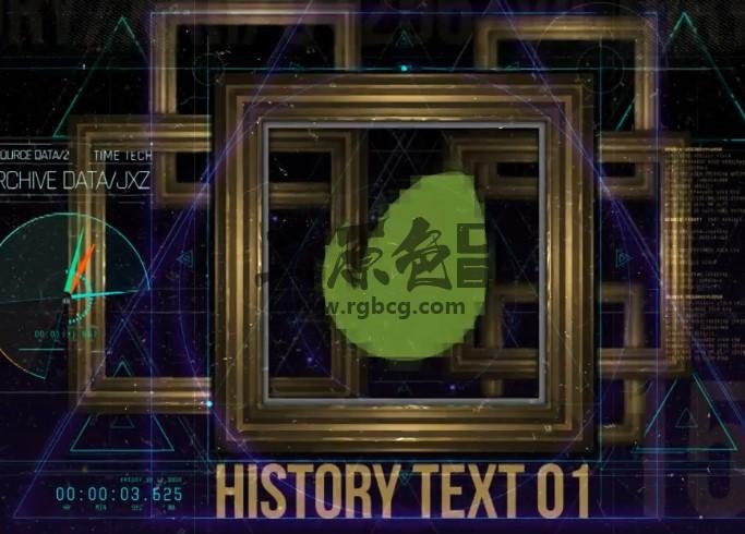AE模板 相册框架中的历史照片LOGO标志片头 History in Frames Ae 模板-第1张
