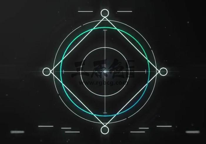 AE模板 线条科技感LOGO标志网址显示 Intense Logo Reveal Ae 模板-第1张