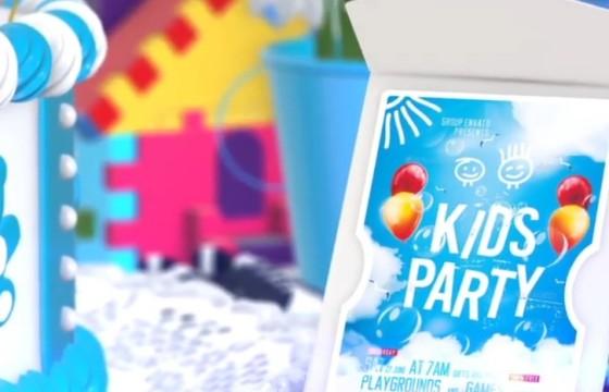 AE模板 – 多彩卡通视频贺卡LOGO标志动画 Kids Logo Opener