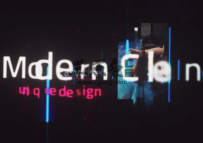 AE模板 创意文字图片瀑布飞入动画片头 LightUP Cinematic Titles Ae 模板-第1张