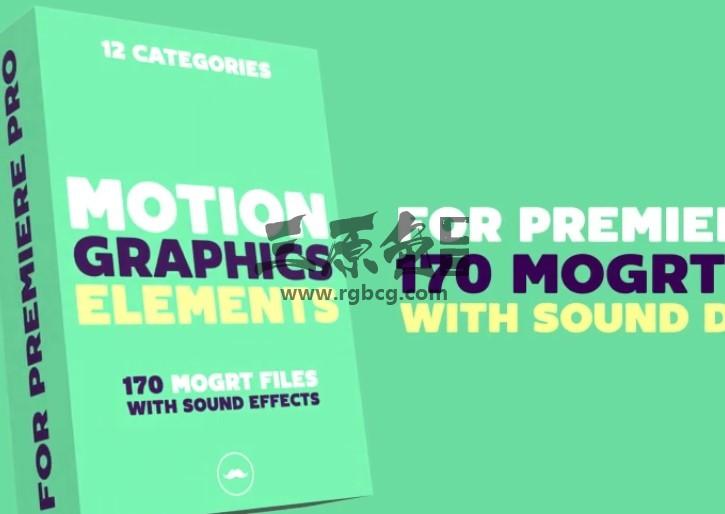 Pr模板-Mogrt基本图形模板 MG卡通线条动画 Motion Graphics Elements Pr 模板-第1张
