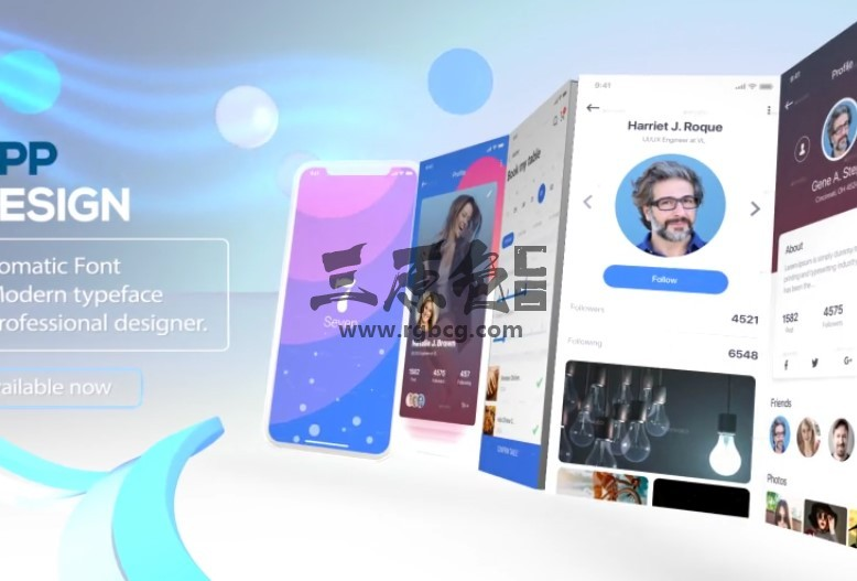 AE模板  手机APP应用程序界面功能演示 Phone X App Presentation Ae 模板-第1张