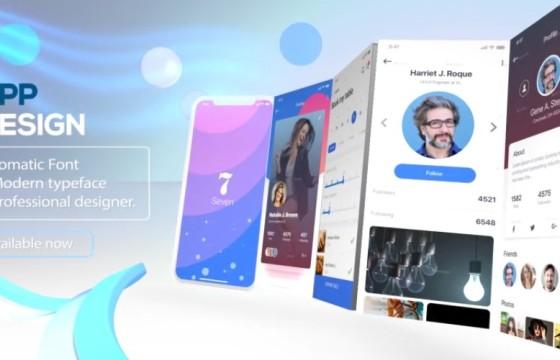 AE模板  手机APP应用程序界面功能演示 Phone X App Presentation