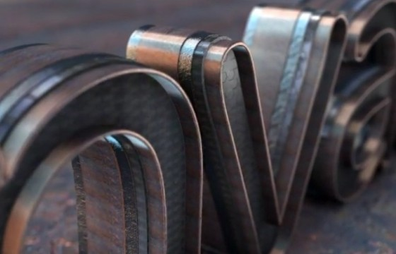 AE模板 三维钢铁材质LOGO标志动画片头 Realistic Logo Reveal