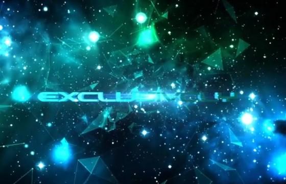 AE模板 不规则图形星空三维文字动画片头 Space Trailer