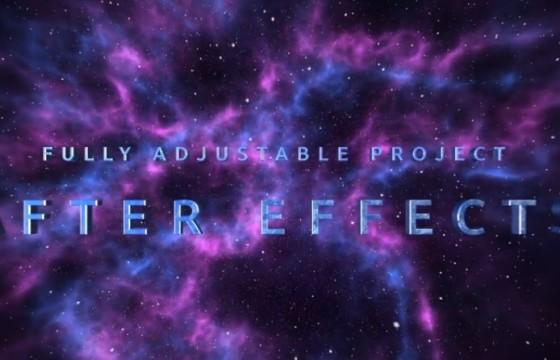 AE模板 史诗震撼大气三维文字宣传预告片 Space Trailer
