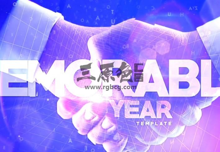 AE模板 年度公司年会活动图文幻灯片展示 Year Corporate Events Ae 模板-第1张