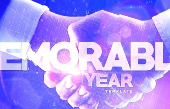 AE模板 年度公司年会活动图文幻灯片展示 Year Corporate Events