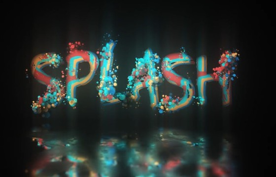 AE模板 发光泡沫粒子显示LOGO动画片头 Glow Particle Logo