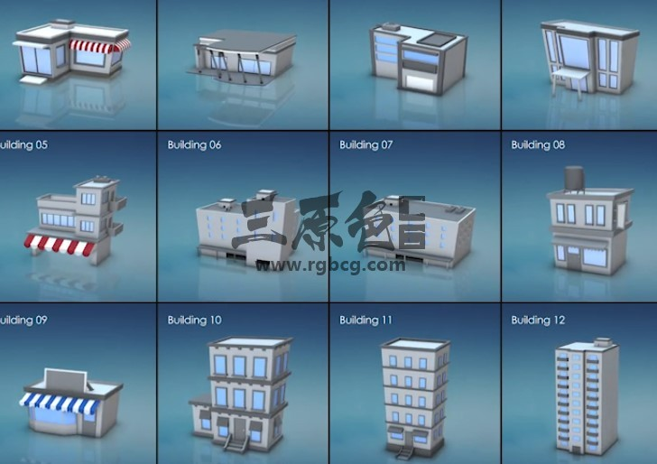 E3D模型 多边形像素运动图形动画模型 3D Motion Graphic VIP 资源-第1张