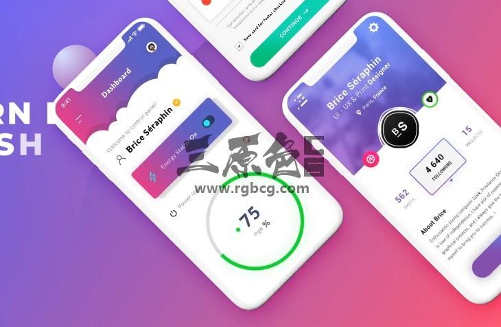 AE模板 - APP应用和手机移动端网页展示 Color App Promo Ae 模板-第1张