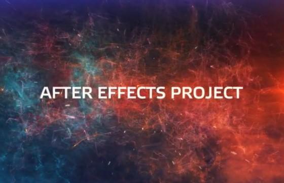 AE模板 特效粒子背景文字片头展示 Videohive Ingalaxy Intro