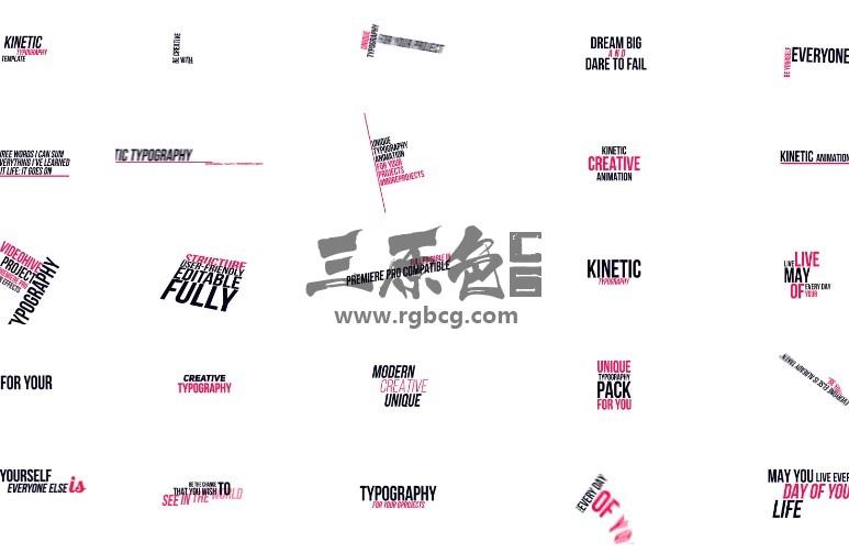 Pr模板-Mogrt基本图形预设 文字排版动画 Kinetic Titles Pr 模板-第1张