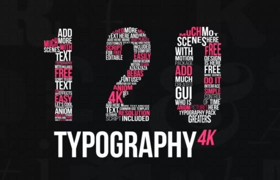 AE模板 – 扁平化文字标题字幕动画排版 Kinetic Typography 4K Package