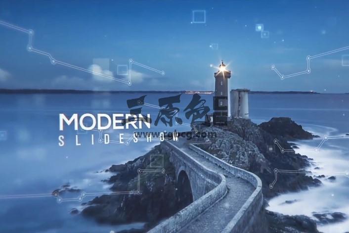 AE Pr 模板-Mogrt基本图形 视差图文幻灯片 Modern Digital Slideshow Ae 模板-第1张
