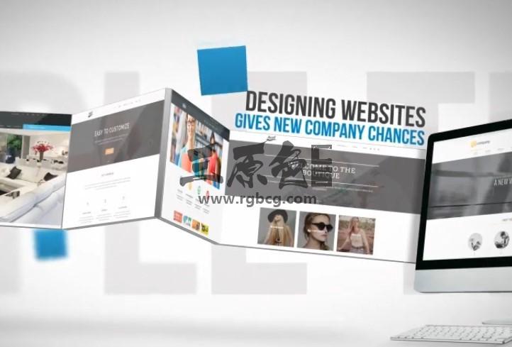 AE模板 促销网站页面和APP应用程序展示 Promotion Website and App Ae 模板-第1张
