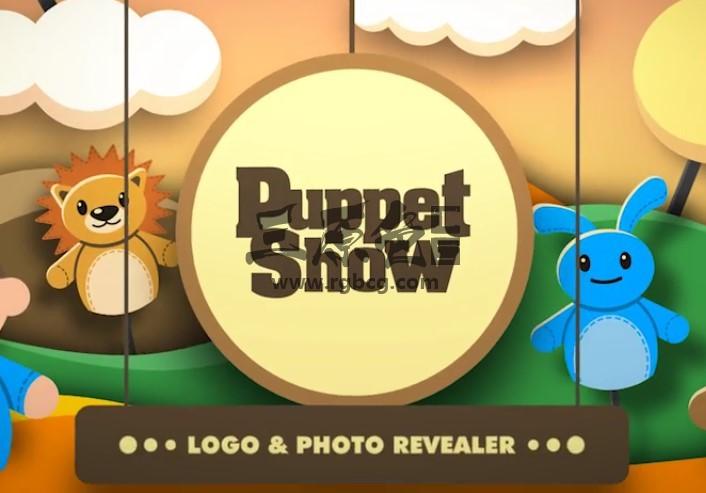 AE模板 剪纸木偶动画剧片头 Puppet Show Revealer Ae 模板-第1张