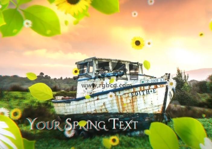 AE模板 春季绿色主题图文幻灯片展示 Spring Slideshow Ae 模板-第1张