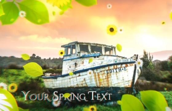 AE模板 春季绿色主题图文幻灯片展示 Spring Slideshow