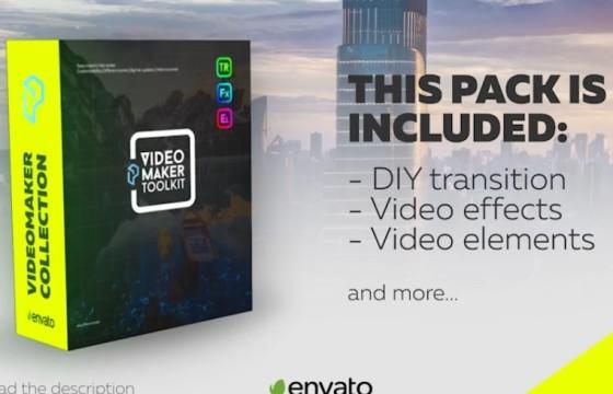 AE模板 视频画面转场过渡切换特效 Transition Maker v1.1