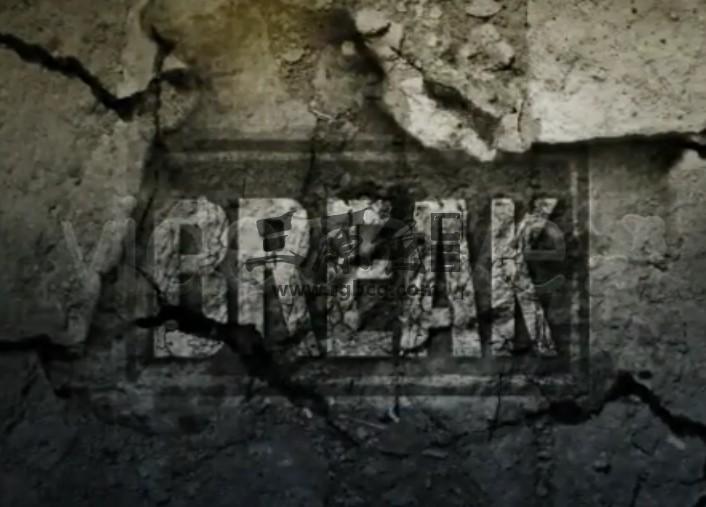 AE模板 墙壁墙面剥落文字显示特效 Breaking The Fourth Wall Ae 模板-第1张