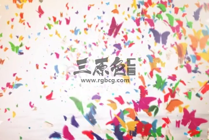 AE模板 五颜六色的蝴蝶LOGO标志显示 Colorful Butterfly Logo Reveal Ae 模板-第1张