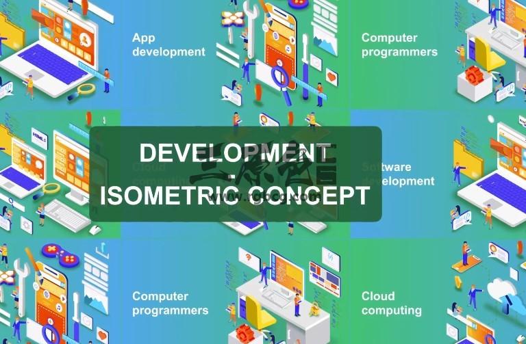 AE模板 数字科技发展概念动画 Digital Development - Isometric Concept Ae 模板-第1张