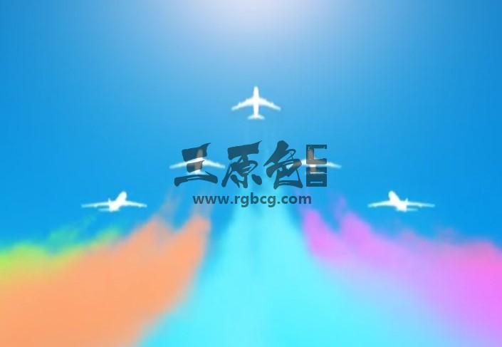 AE模板 - MG卡通动画 飞机飞行展示 Fly Away Ident Ae 模板-第1张