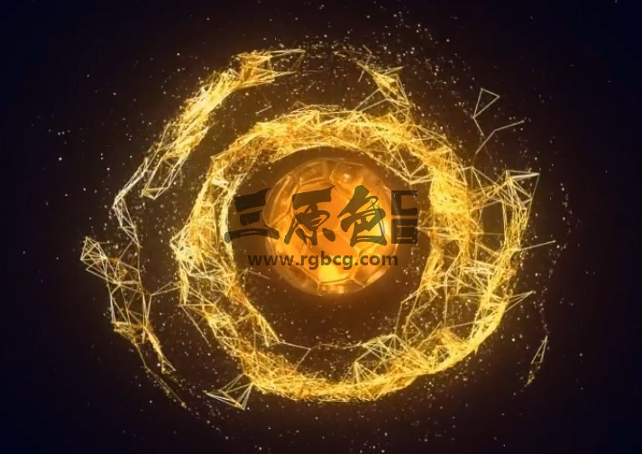 AE模板 金色旋涡LOGO显示片头 Gold Swirls Logo Reveal Ae 模板-第1张