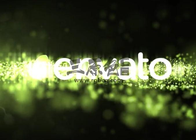 AE模板 发光粒子闪烁显示片头 Logo Reveal Particle Ae 模板-第1张