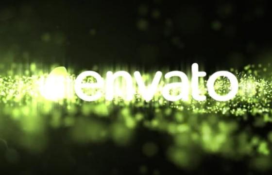 AE模板 发光粒子闪烁显示片头 Logo Reveal Particle