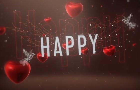 AE模板 浪漫情人节婚礼视频邀请片头 Valentine Day