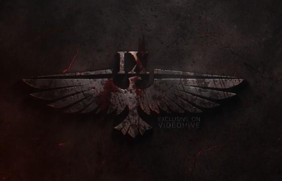 AE模板 暗黑风格LOGO显示片头 VideoHive War Logo
