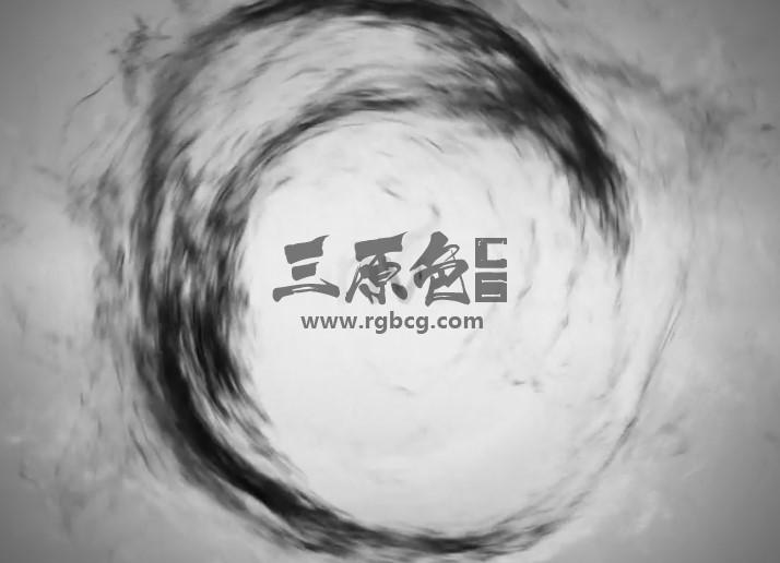 AE模板 黑白太极烟雾水墨动画片头 Yin Yang Logo Reveal Ae 模板-第1张