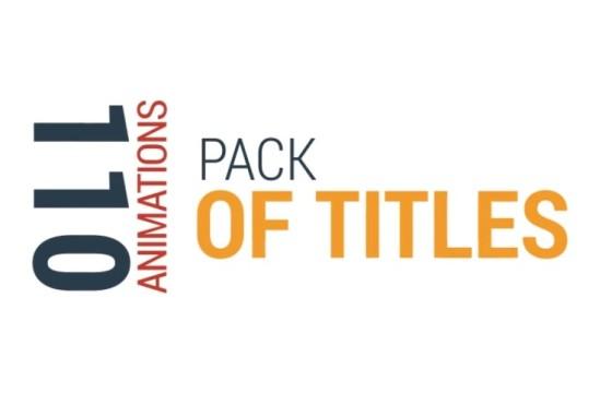 AE模板 – 110个文字标题字幕条排版动画 Title Animations