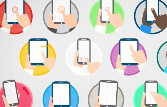AE模板 – 手机移动设备手势点击动画 Animated Gesture Icons