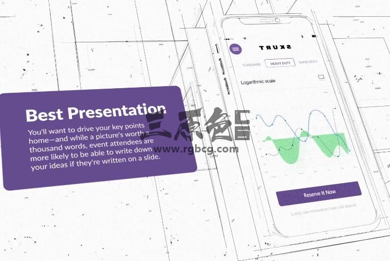 AE模板 手机APP草图界面功能展示 Blue Print Mobile Promo Ae 模板-第1张