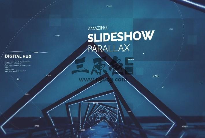 AE模板 - 三维视差图文幻灯片 Digital Slideshow Ae 模板-第1张