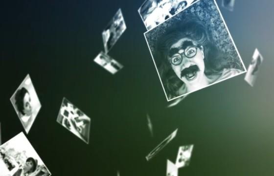 AE模板 三维空间相册模板动画 Falling Slideshow